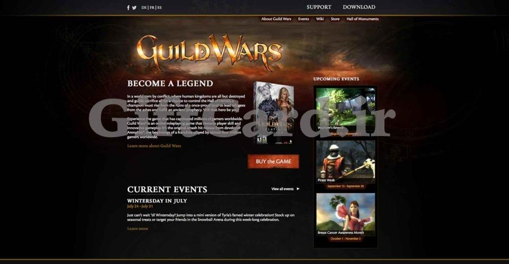 ساخت اکانت Guild wars II و نحوه استفاده از گیفت کارت Guild wars - ۱