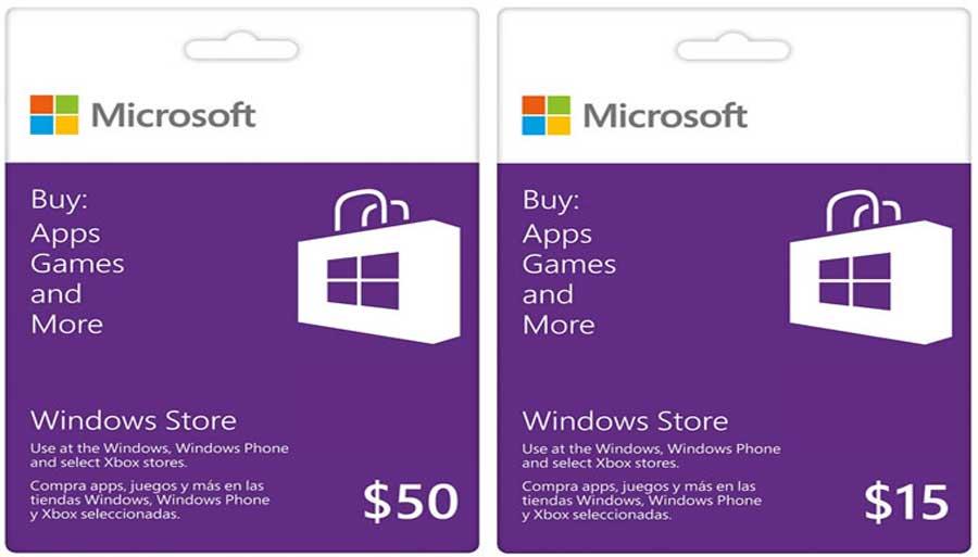 پیغام های خطای گیفت کارت مایکروسافت
