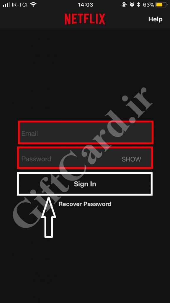 آموزش شارژ اکانت نت فلیکس با حساب اپل آیدی - 2