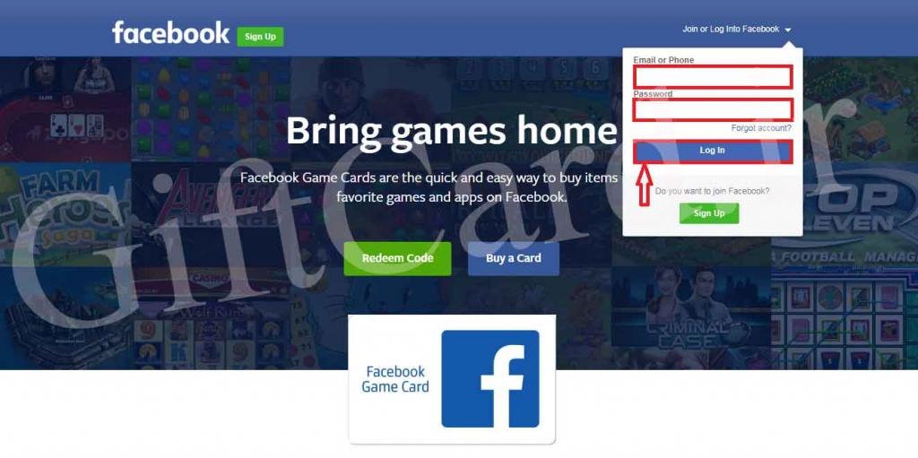 آموزش و نحوه شارژ اکانت فیسبوک با گیم کارت فیسبوک - ۱