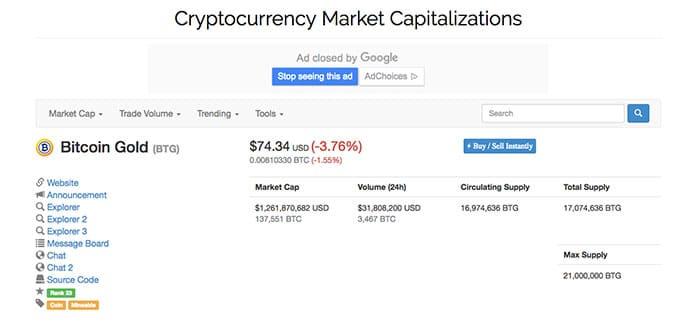ارز دیجیتال بیت کوین گلد Bitcoin Gold - 1