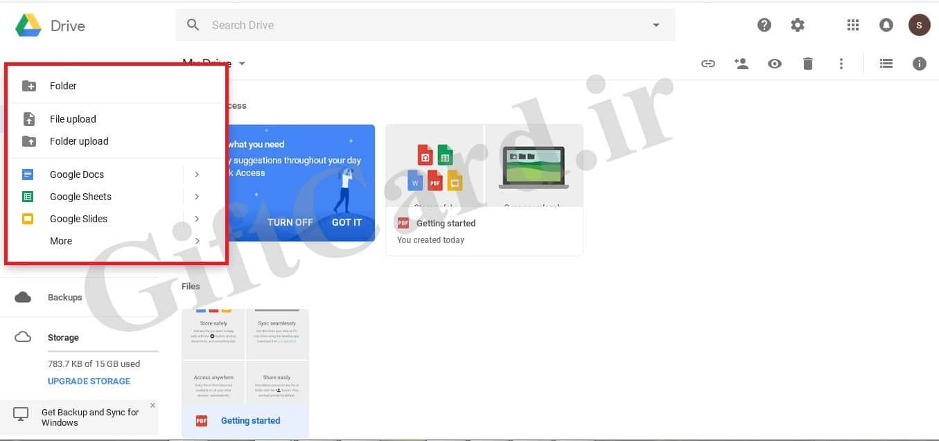 آموزش کار با گوگل درایو و نحوه ی افزایش حجم گوگل درایو-9
