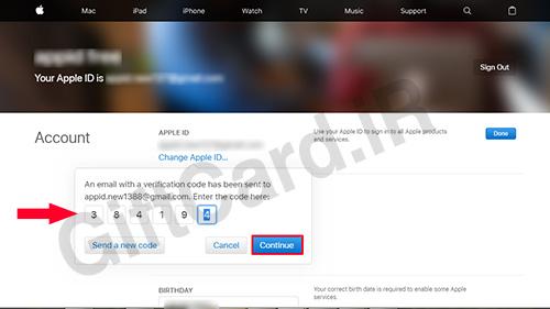 آموزش تغییر ایمیل اپل آیدی 7