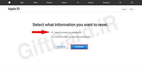 فراموش کردن رمز اپل ایدي ۳
