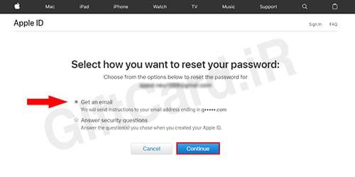 فراموش کردن رمز اپل ایدي ۴