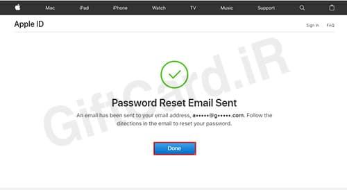 فراموش کردن رمز اپل ایدي ۵