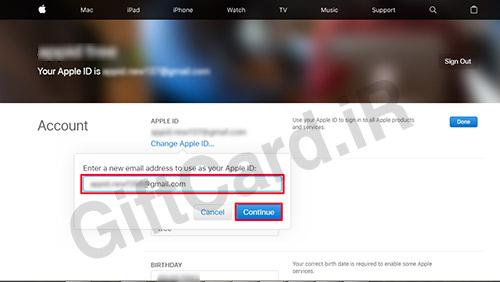 آموزش تغییر ایمیل اپل آیدی 5
