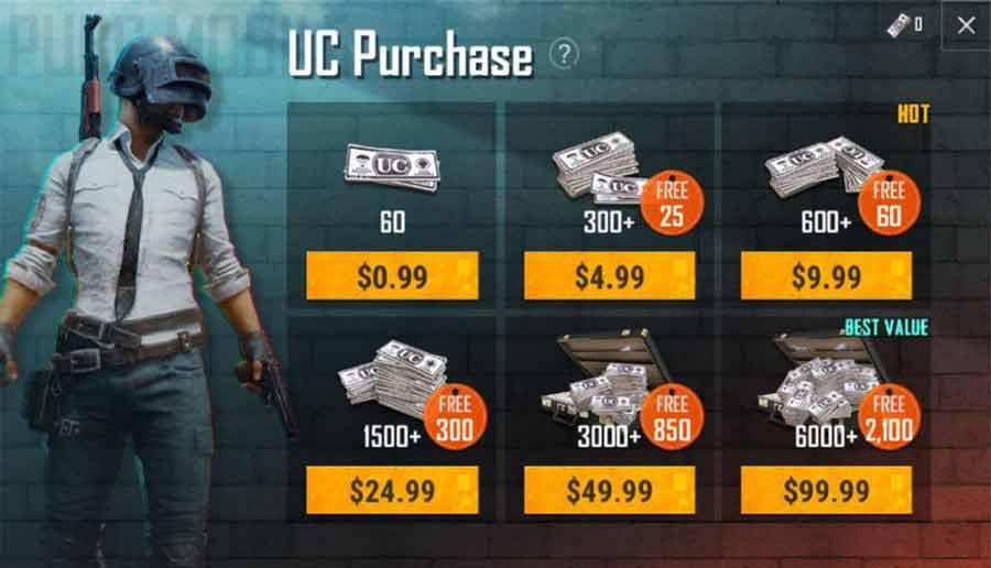 خرید یوسی بازی پابجی موبایل pubg mobile uc | گیم کد - هلپ لب
